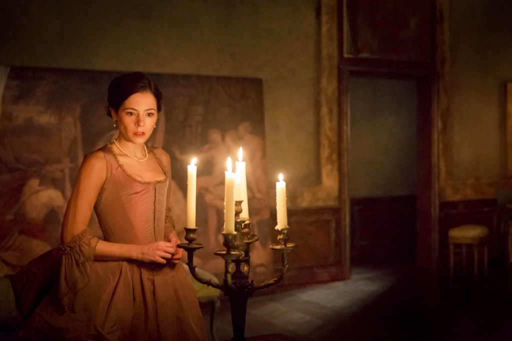 Elaine Cassidy Madame de Tourvel in Les Liaisons Dangereuses at the Donmar Warehouse photo by Johan Persson